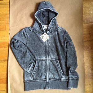 J America vintage style burnout zip sweatshirt
